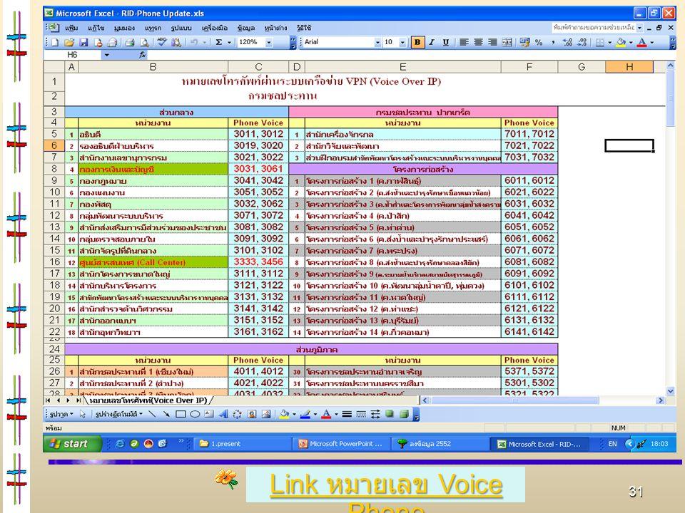 Link หมายเลข Voice Phone