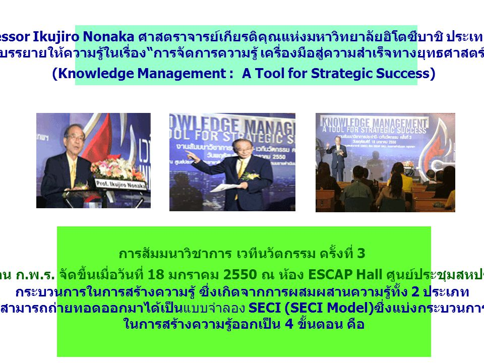 (Knowledge Management : A Tool for Strategic Success)