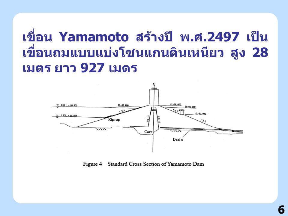 เขื่อน Yamamoto สร้างปี พ. ศ