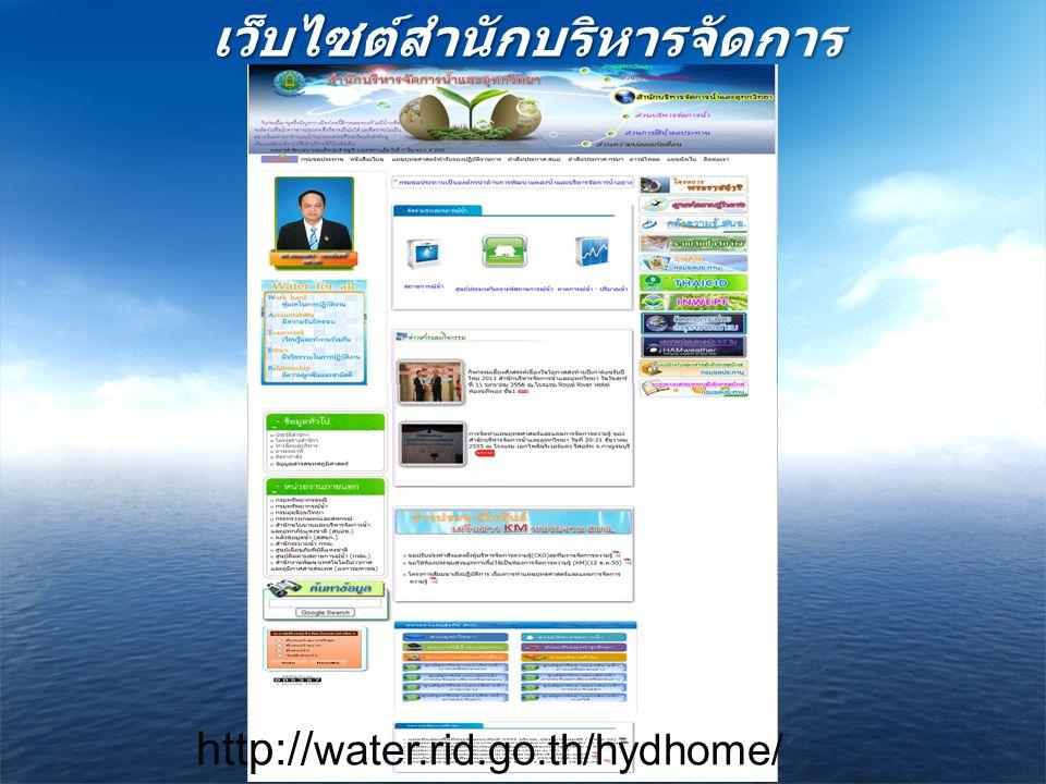เว็บไซต์สำนักบริหารจัดการน้ำและอุทกวิทยา