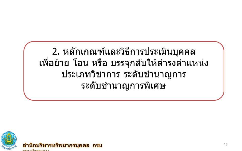 2. หลักเกณฑ์และวิธีการประเมินบุคคล