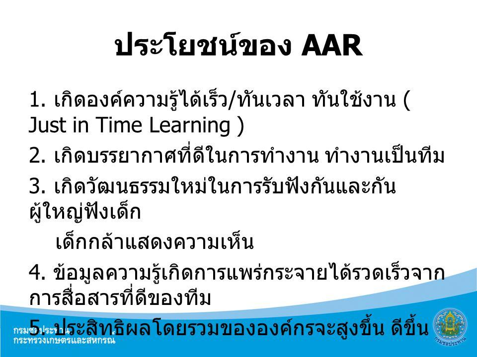 ประโยชน์ของ AAR