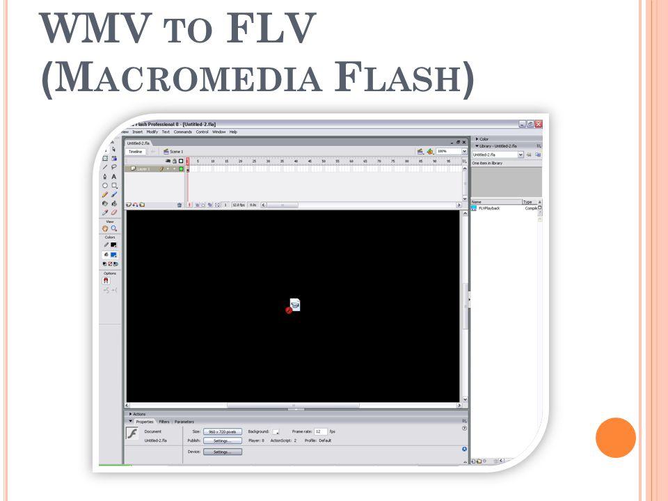 โปรแกรมที่ใช้แปลงไฟล์ จาก WMV to FLV (Macromedia Flash)
