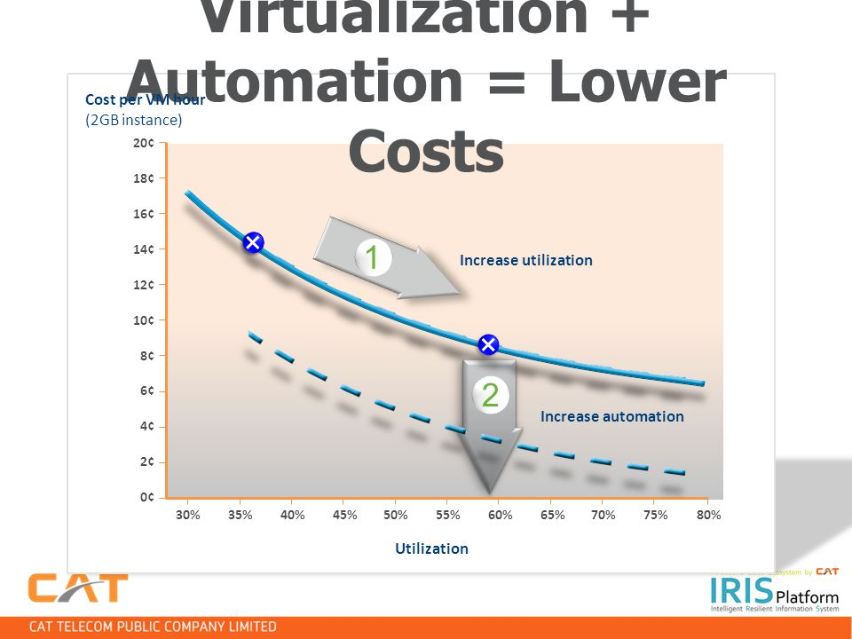 Virtualization + Automation = Lower Costs