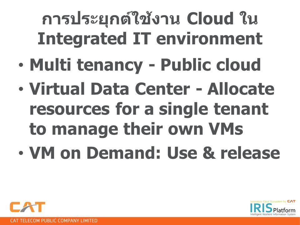 การประยุกต์ใช้งาน Cloud ใน Integrated IT environment