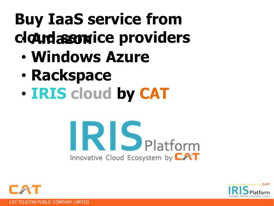 Buy IaaS service from cloud service providers