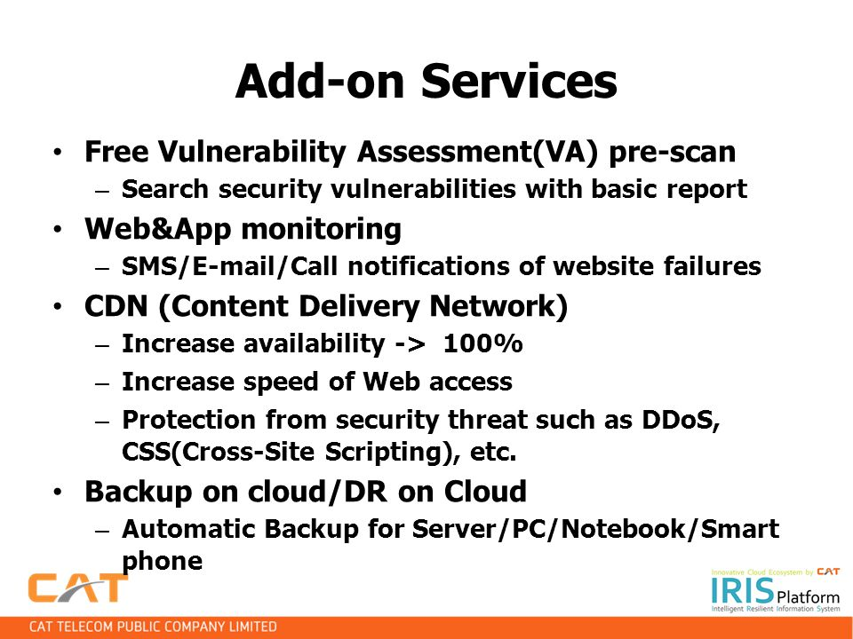 Add-on Services Free Vulnerability Assessment(VA) pre-scan