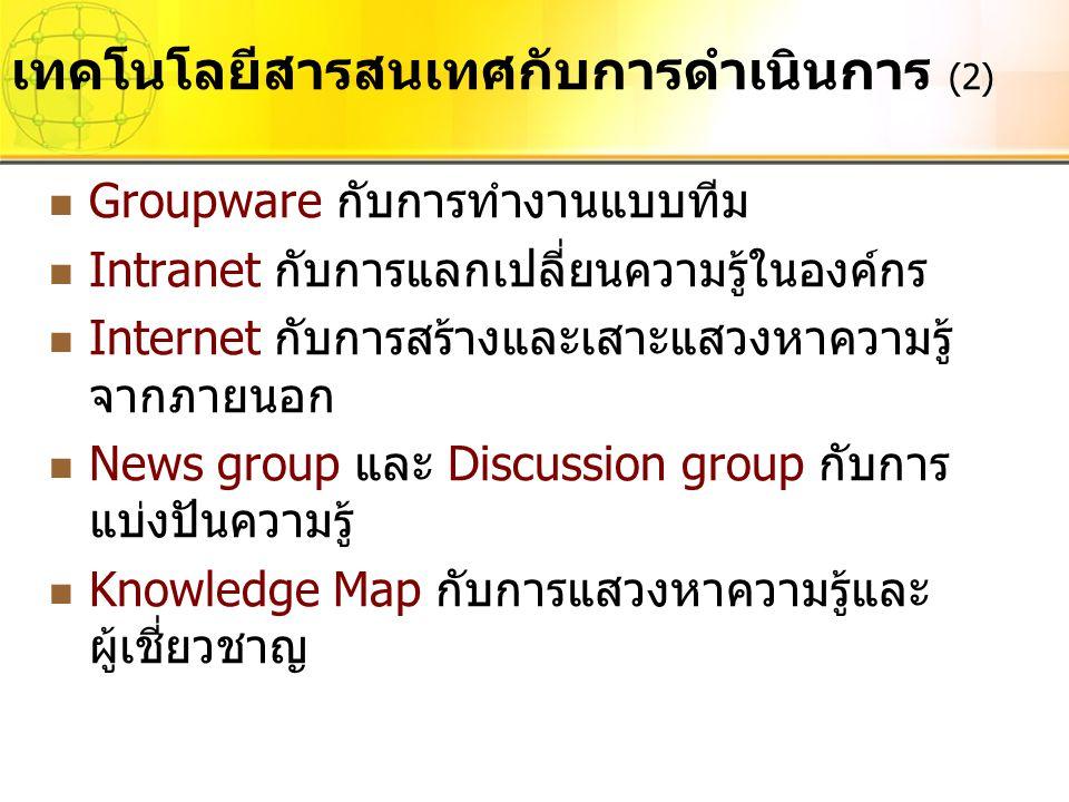 เทคโนโลยีสารสนเทศกับการดำเนินการ (2)