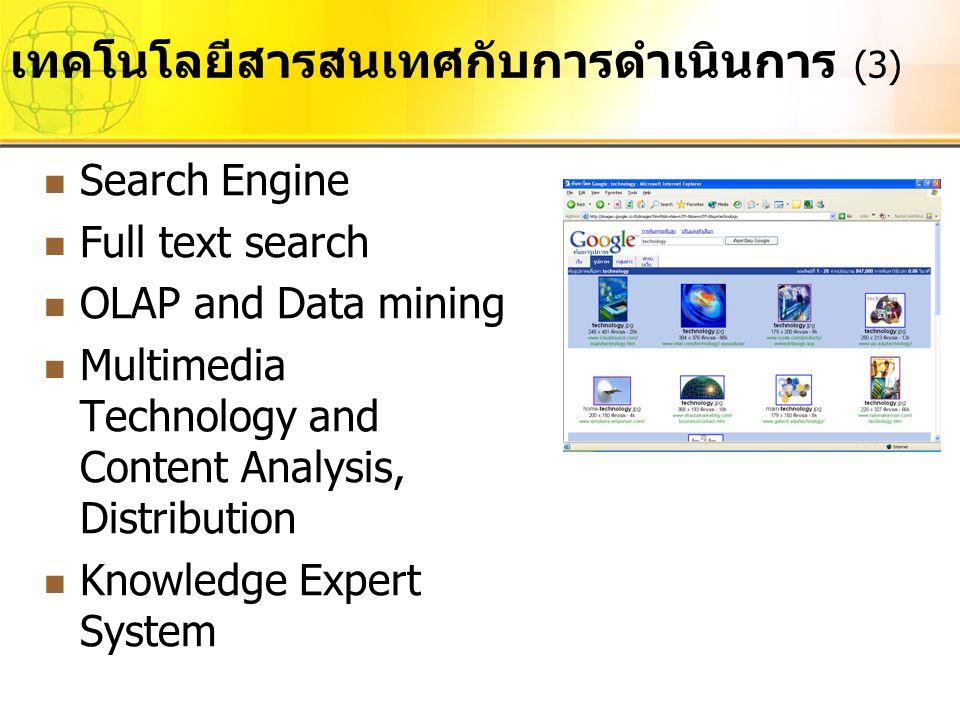 เทคโนโลยีสารสนเทศกับการดำเนินการ (3)