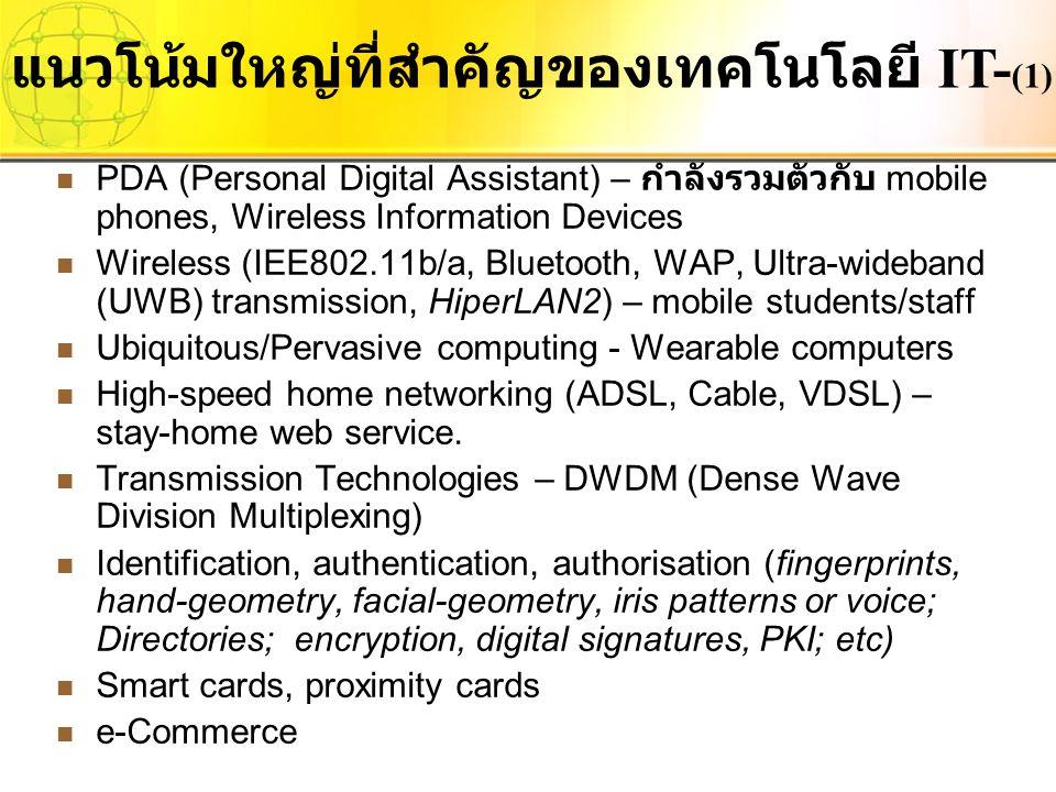 แนวโน้มใหญ่ที่สำคัญของเทคโนโลยี IT-(1)