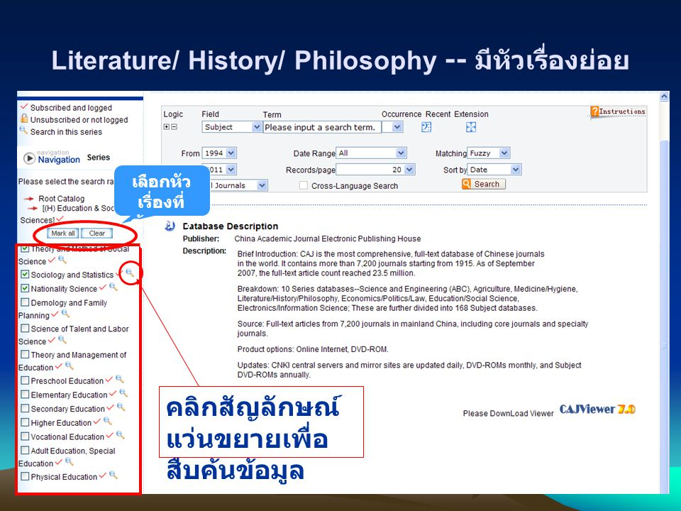 Literature/ History/ Philosophy -- มีหัวเรื่องย่อย