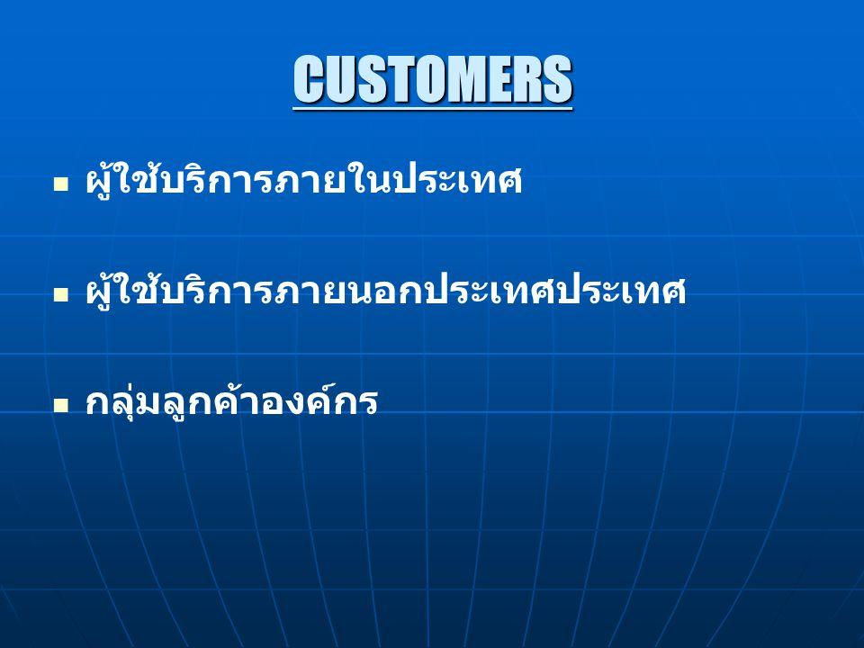 CUSTOMERS ผู้ใช้บริการภายในประเทศ ผู้ใช้บริการภายนอกประเทศประเทศ
