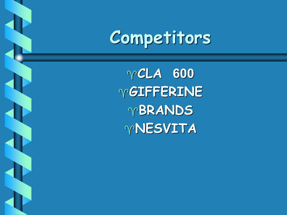Competitors CLA 600 GIFFERINE BRANDS NESVITA