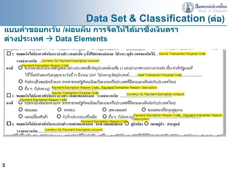 Data Set & Classification (ต่อ)