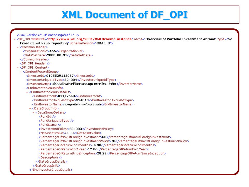 XML Document of DF_OPI