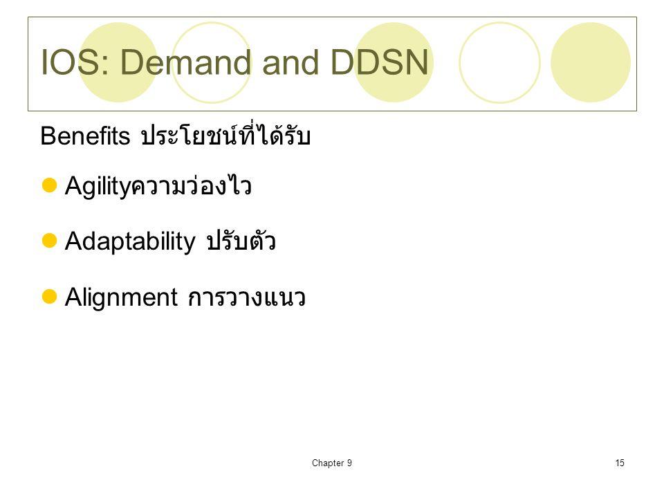 IOS: Demand and DDSN Benefits ประโยชน์ที่ได้รับ Agilityความว่องไว