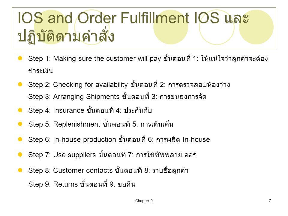 IOS and Order Fulfillment IOS และปฏิบัติตามคำสั่ง