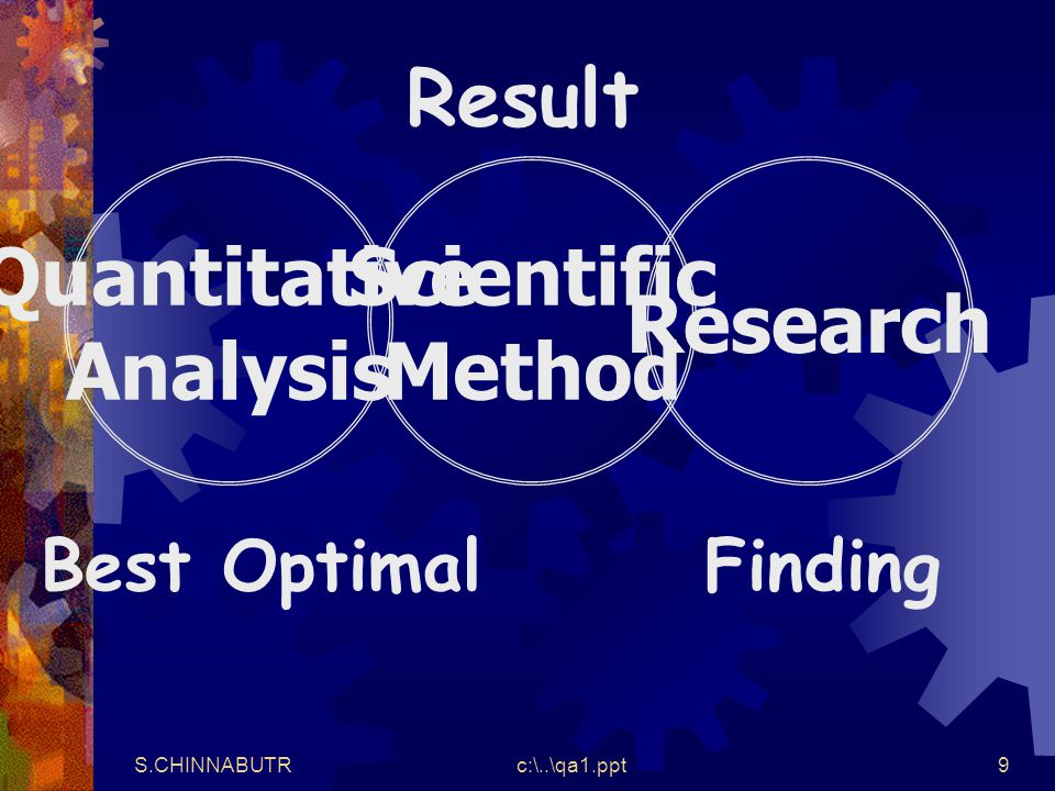 Quantitative Analysis Scientific Method Research