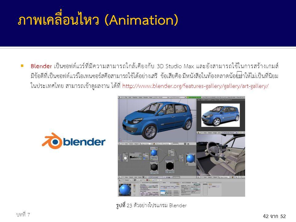 รูปที่ 23 ตัวอย่างโปรแกรม Blender