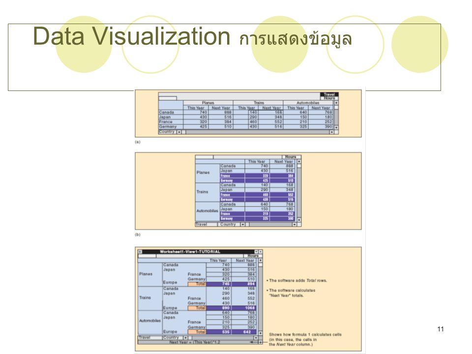 Data Visualization การแสดงข้อมูล
