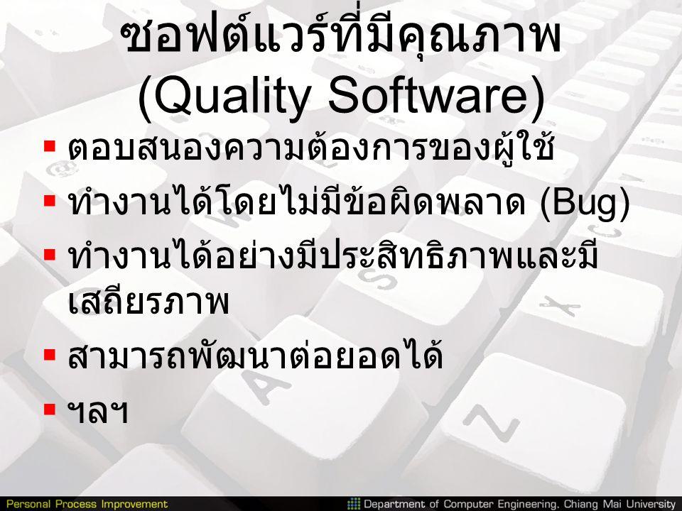ซอฟต์แวร์ที่มีคุณภาพ (Quality Software)