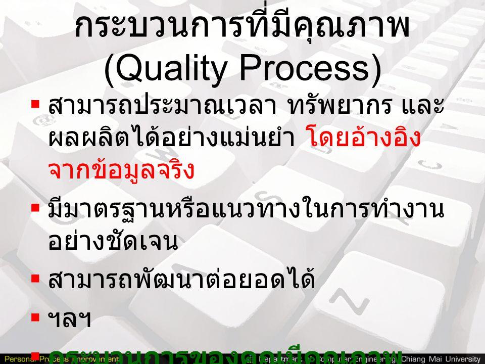 กระบวนการที่มีคุณภาพ (Quality Process)