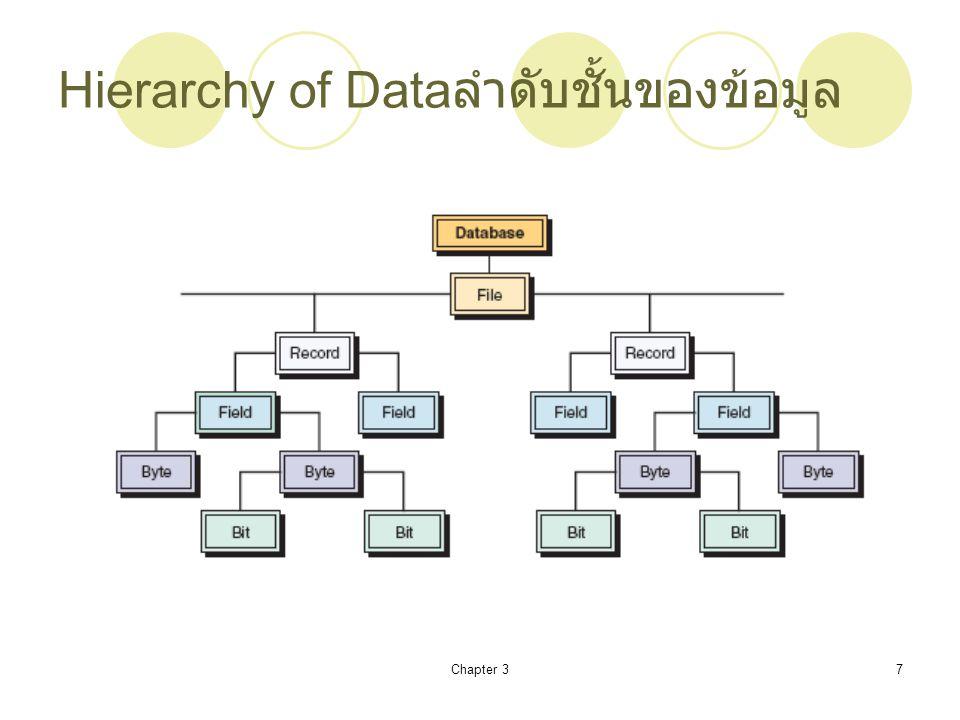 Hierarchy of Dataลำดับชั้นของข้อมูล