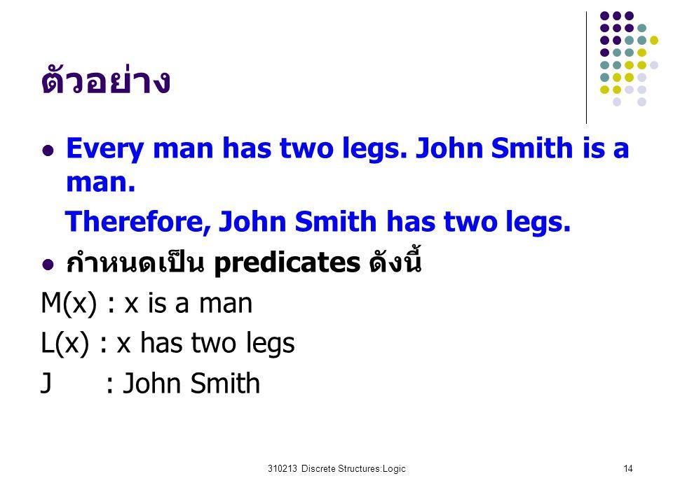 310213 Discrete Structures:Logic