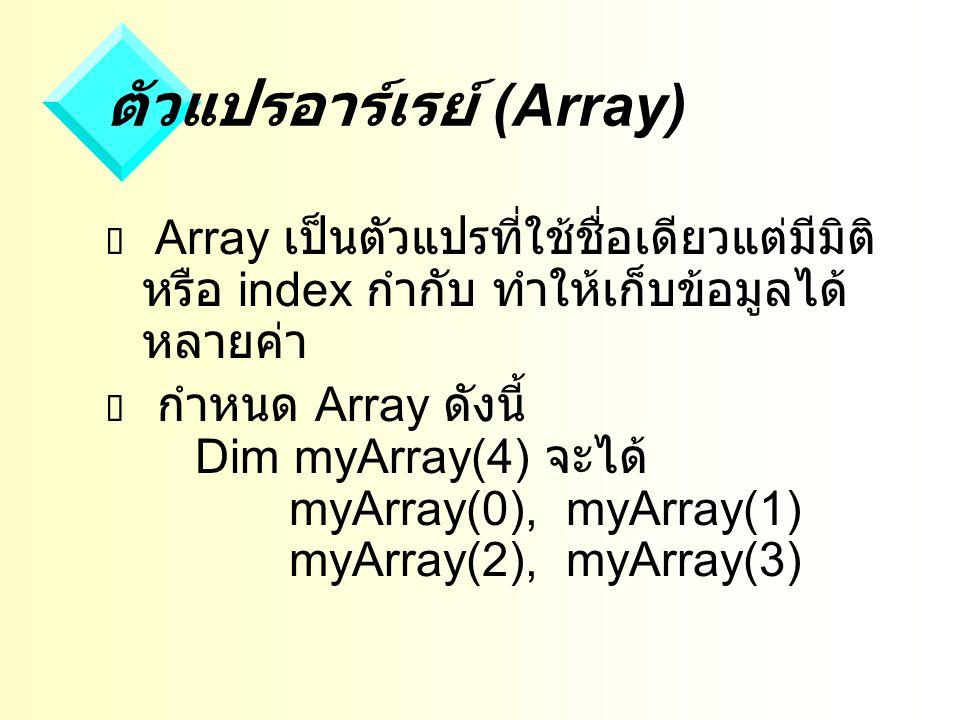 ตัวแปรอาร์เรย์ (Array)