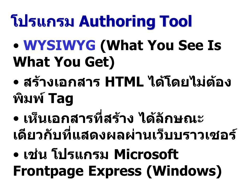 โปรแกรม Authoring Tool