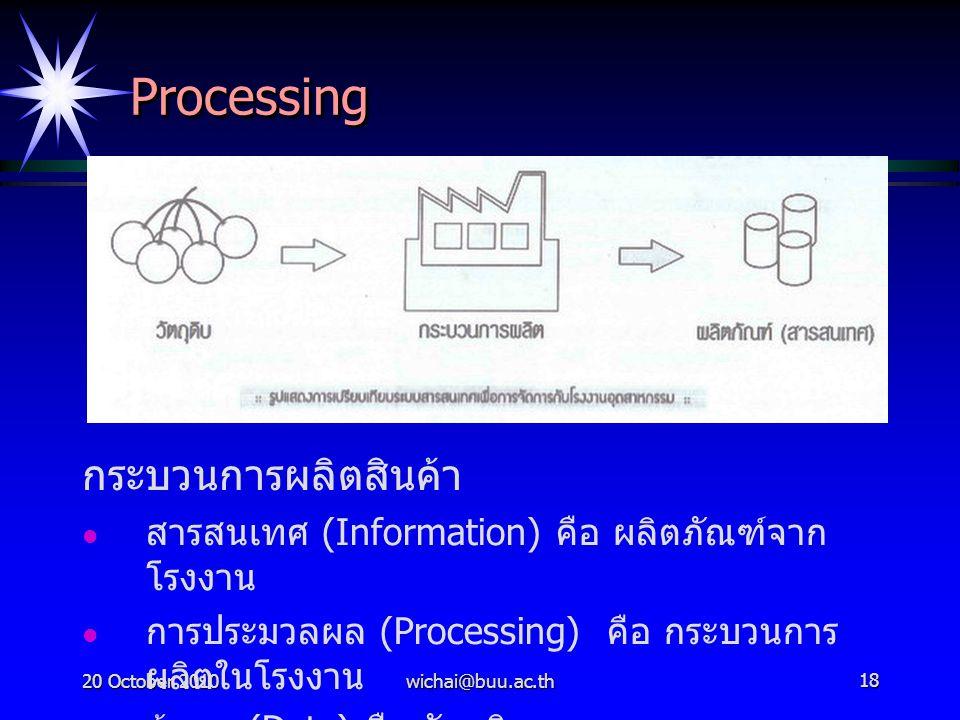Processing กระบวนการผลิตสินค้า