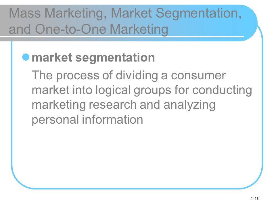 marketing research and market segmentation