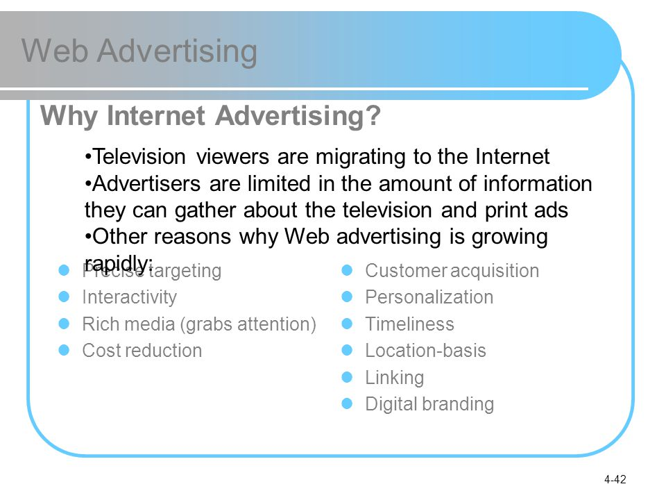 Web Advertising Why Internet Advertising