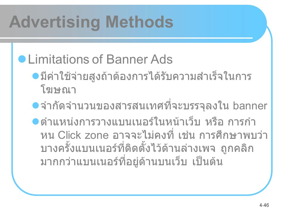 Advertising Methods Limitations of Banner Ads