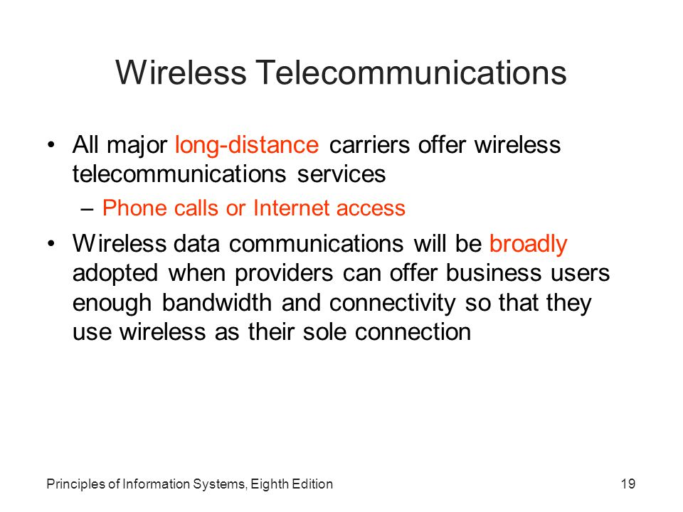 Wireless Telecommunications