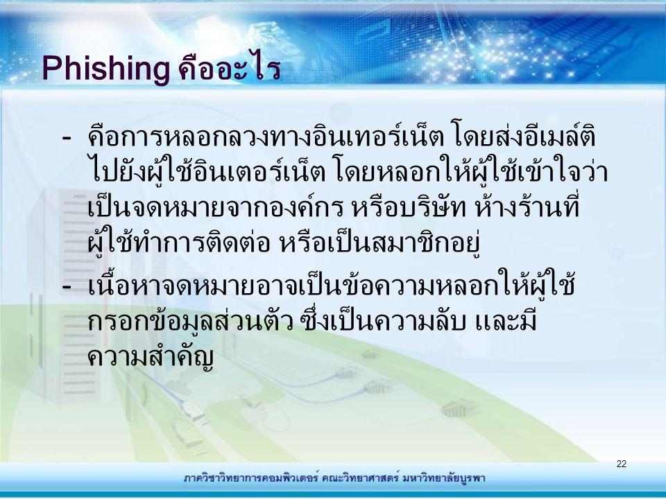 Phishing คืออะไร
