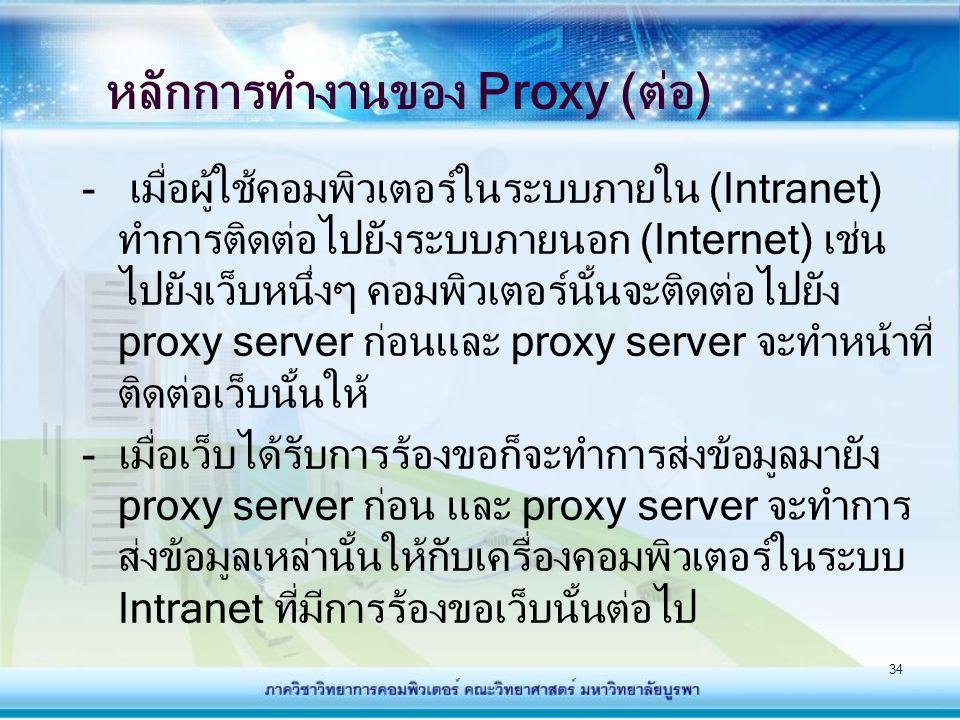 หลักการทำงานของ Proxy (ต่อ)