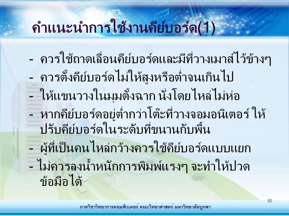คำแนะนำการใช้งานคีย์บอร์ด(1)