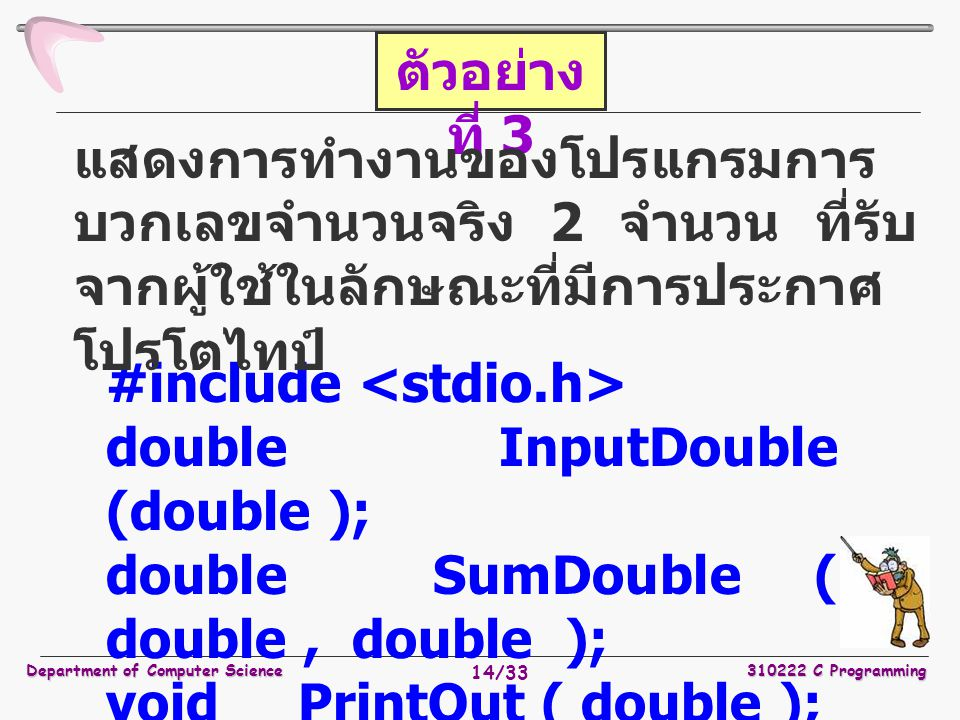 #include <stdio.h> double InputDouble (double );