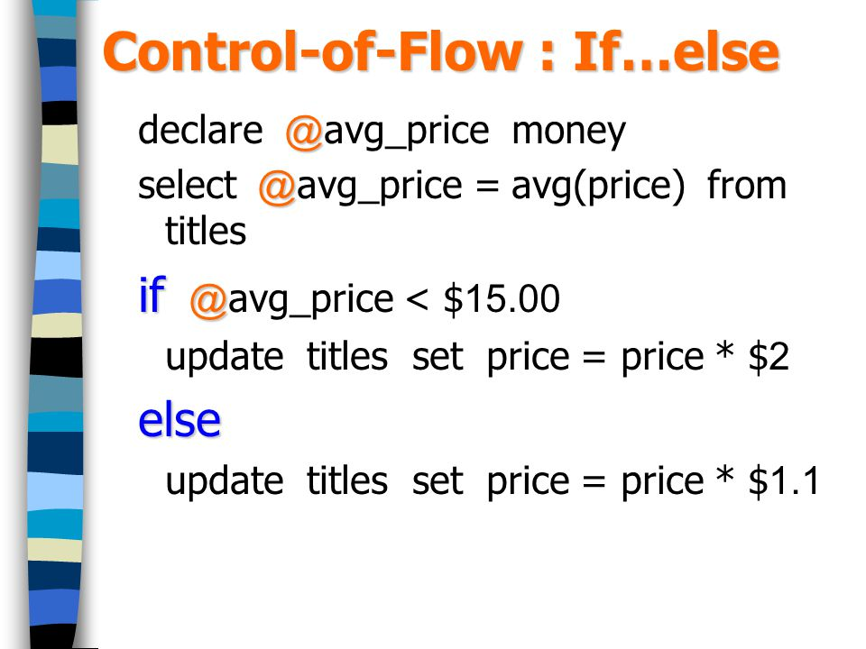 Control-of-Flow : If…else