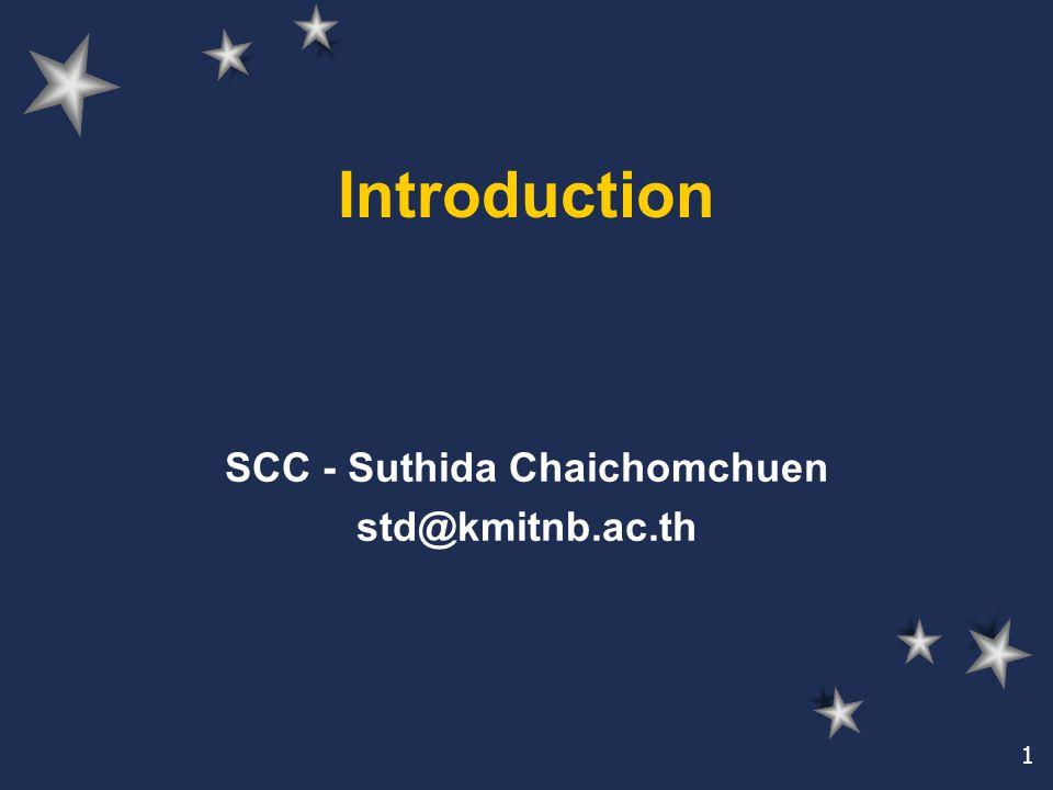 SCC - Suthida Chaichomchuen std@kmitnb.ac.th