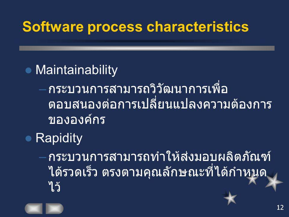 Software process characteristics