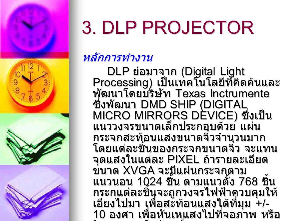 3. DLP PROJECTOR หลักการทำงาน