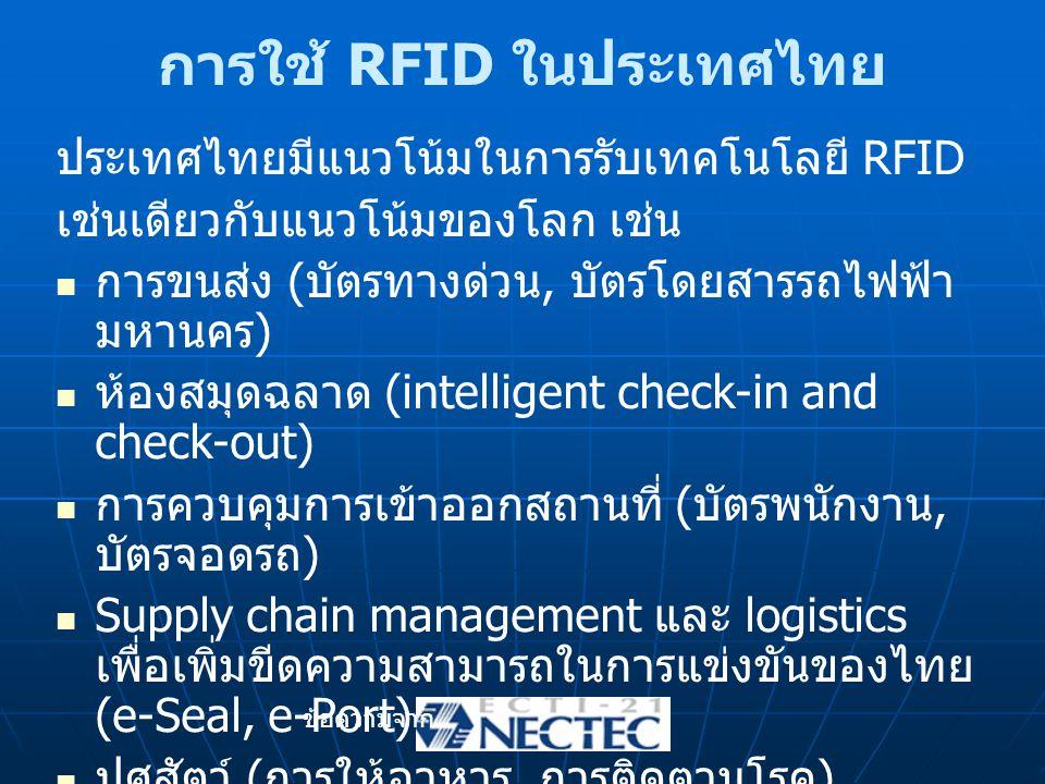การใช้ RFID ในประเทศไทย