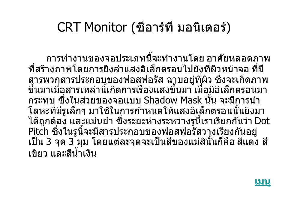 CRT Monitor (ซีอาร์ที มอนิเตอร์)