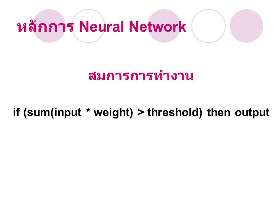 หลักการ Neural Network