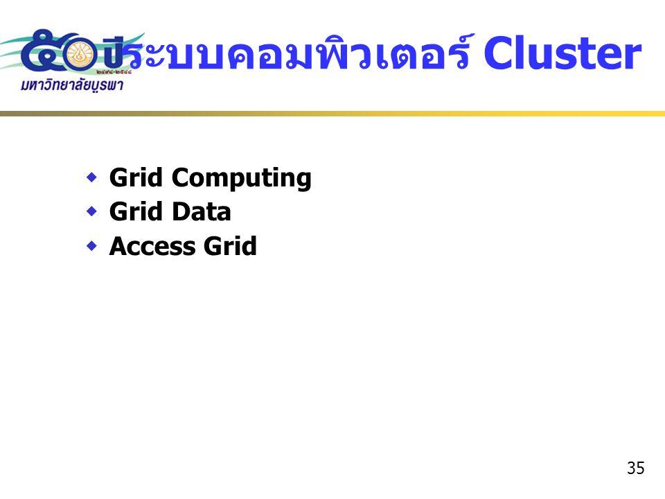 ระบบคอมพิวเตอร์ Cluster
