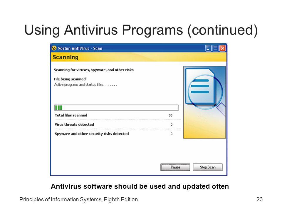 Using Antivirus Programs (continued)