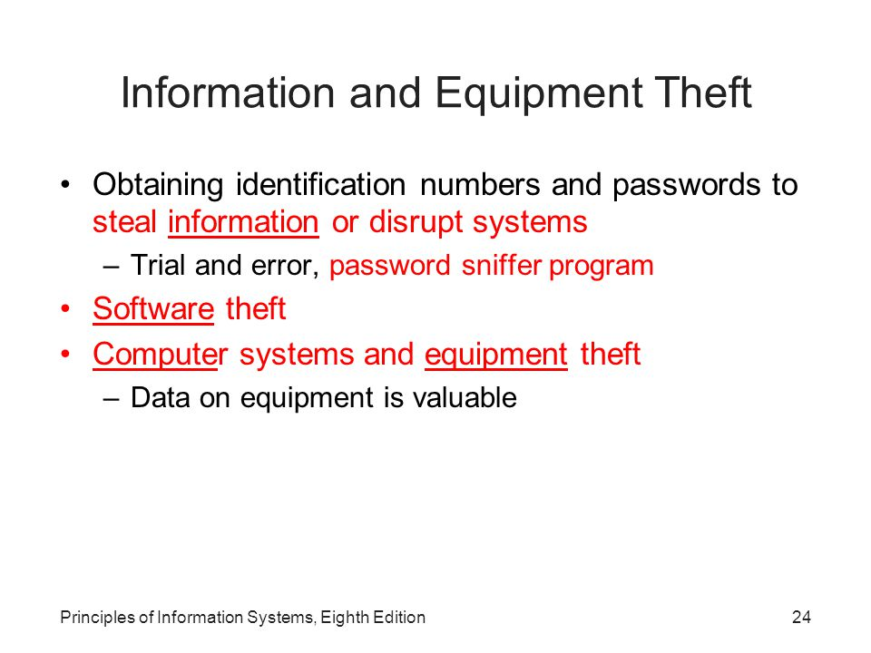 Information and Equipment Theft