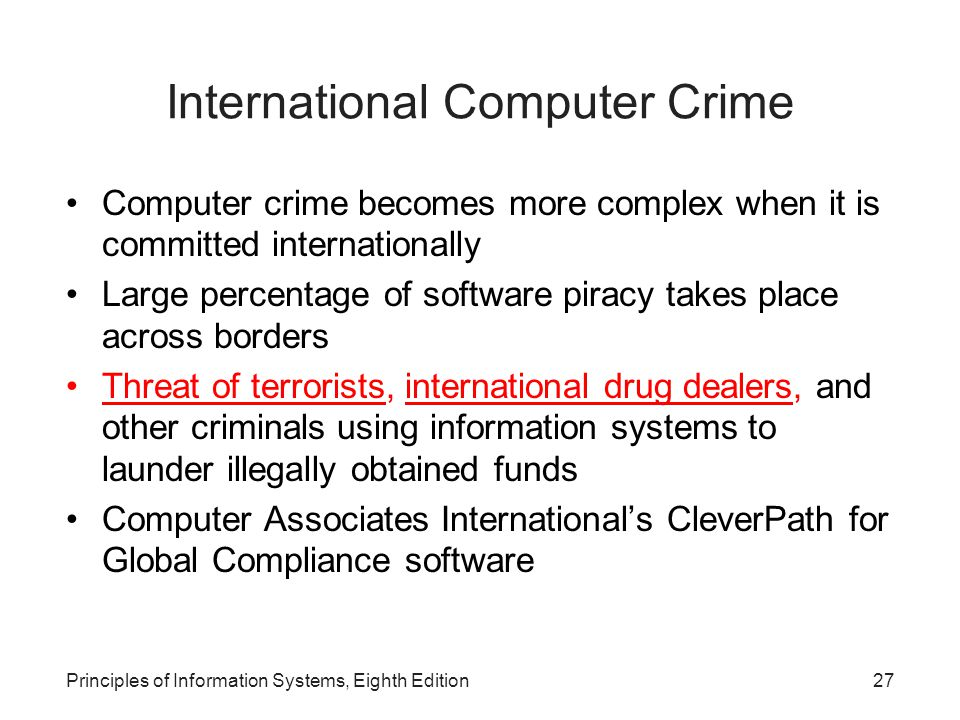 International Computer Crime